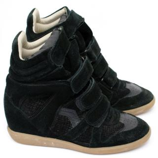 Isabel Marant Bekett Suede Wedge Sneakers