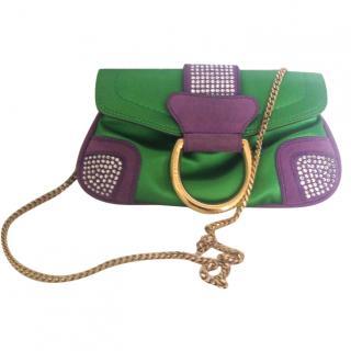 Dolce & Gabbana Strass Satin Mini Bag
