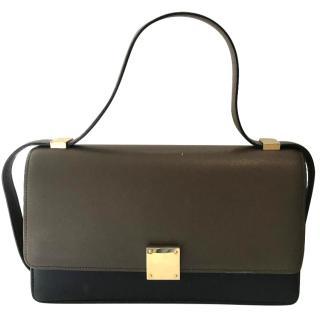Celine Two Tone Case Calfskin Flap Bag