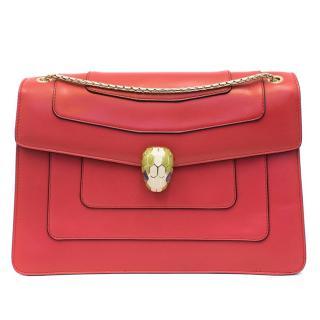 Bvlgari Serpenti Forever Pink Flap Shoulder Bag