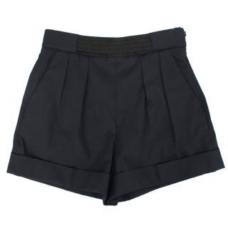 Balenciaga Navy High Waisted Shorts