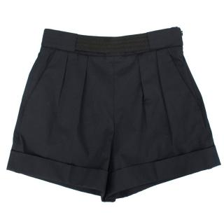 Balenciaga Navy High Waisted Shorts