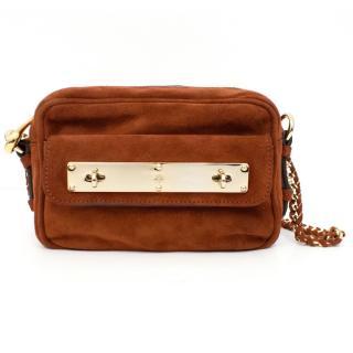 Mulberry Harper Mini Fox Brown Suede Camera Bag