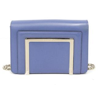 Jimmy Choo Blue Leather Shoulder Bag