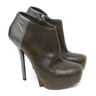 Camilla Skovgaard Grey Heeled Ankle Boots