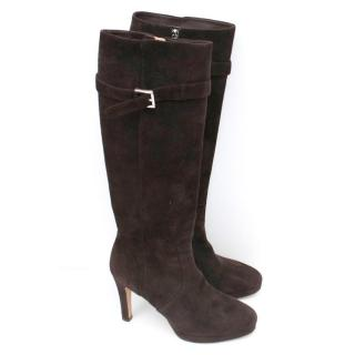 Fedeli Brown Suede Boots