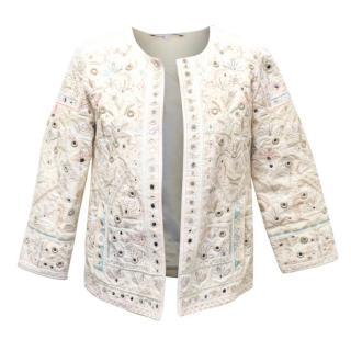 Christophe Sauvat Cream Embroided Jacket