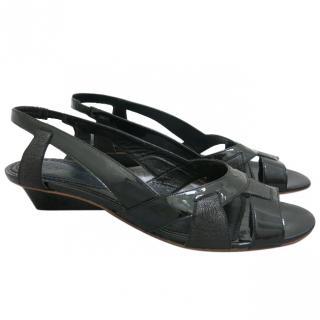 Jill Sander black sandals