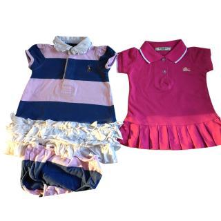 Burberry and Ralph Lauren girl's dresses
