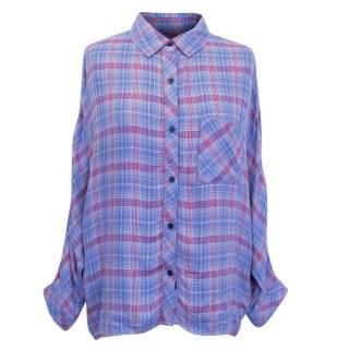 Rails Womens Purple Checkered Shirt