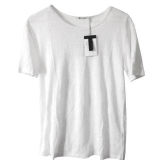 T by Alexander Wang linen-silk blend men's t shirt