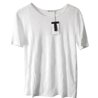 T by Alexander Wang linen-silk blend men's t shirt