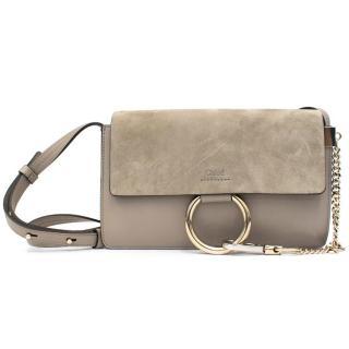 Chloe 'Faye' Grey Small Shoulder/Crossbody Bag