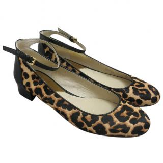 Michael Kors calf hair leopard print shoes