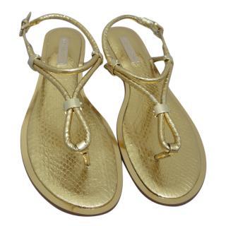 Michael Kors gold snake skin sandals
