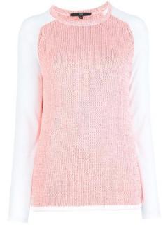 Tibi Contrast Sleeve Sweater