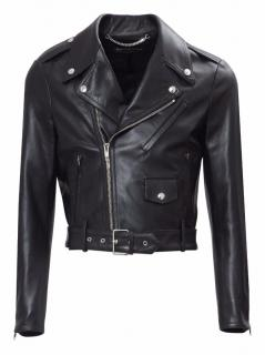 Balenciaga Men's Cropped Biker Jacket - Current Season NEW