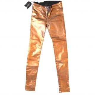 J brand bronze super skinny jeans