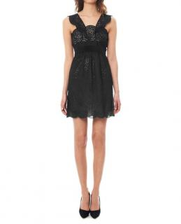 The Kooples black broderie anglaise dress
