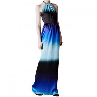 Jonathan Saunders Adelphi Ombre Halter Gown Dress