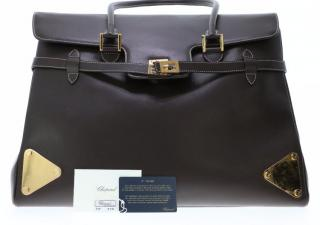 Chopped Brown Leather Weekender