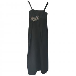Vera Wang full length raw silk dress