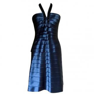 BCBG Max Azria Blue Silk Cocktail Dress