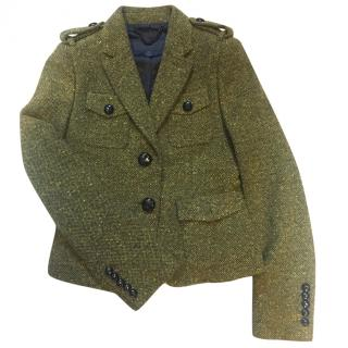 Burberry Prorsum green tweed jacket