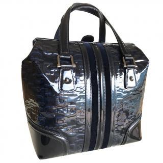 Gucci Boston Tote in blue leather