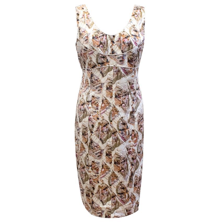 Chanel Print Silk Dress
