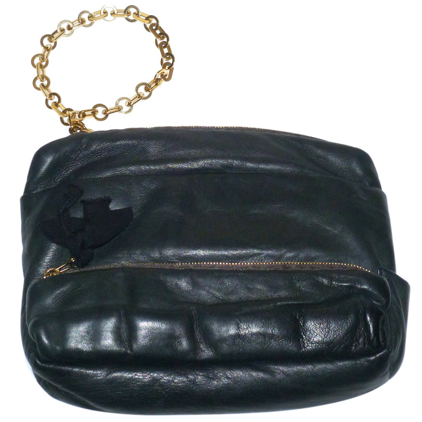 c88512849f12 Lanvin Black Butter Soft Leather Clutch Bag