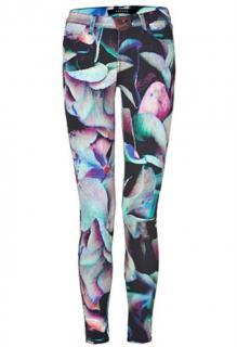 J Brand colorful floral super skinny jeans