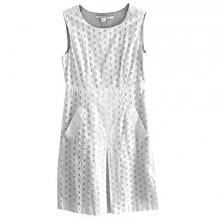 Diane Von Furstenberg white cotton dress