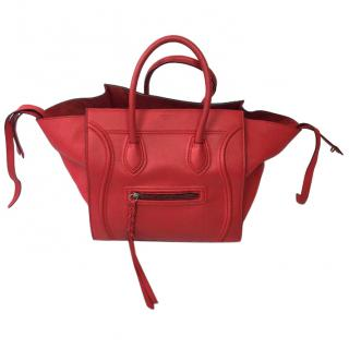Celine phantom luggage red tote