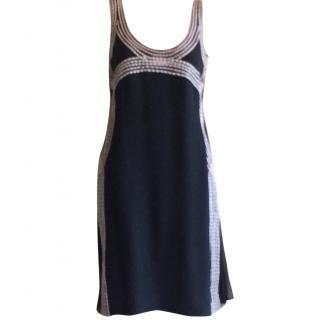 Carolina Herrera blue cocktail dress