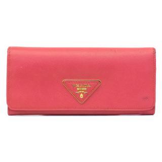 Prada Saffiano Pink Wallet