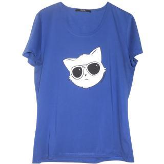 Karl lagerfeld royal blue t shirt