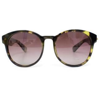Anine Bing Green And Black Sunglasses