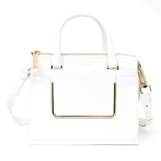 Roger Vivier Paris White Shoulder Bag