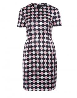 Jonathan Saunders Checkerboard Short Sleeve Dress