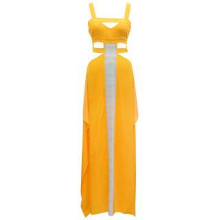 Aya Silk Yellow Maxi Dress