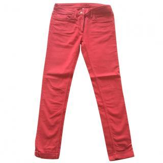 Sandro red 5-pocket jeans straight leg