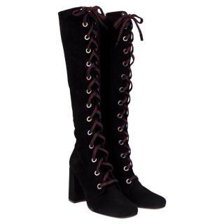 Prada leather boots