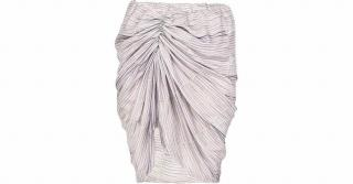 See By Chloe Grey Ruched Skirt