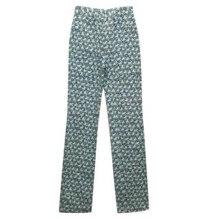 Philosopy Green And Blue Patterend Trousers