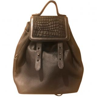 Mackage Tanner Leather Backpack Black