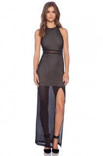 alice + olivia cross back maxi dress