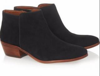 Sam Edelman Petty black suede ankle boots