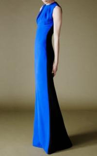 JONATHAN SAUNDERS  Jersey Sleeveless Lily Gown in Cobalt Blue/Black