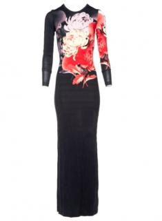 Jonathan Saunders Black Floral maxi dress